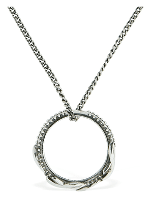 Ring Sterling Silver Chain Necklace