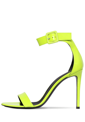 105mm Neon Patent Leather Sandals