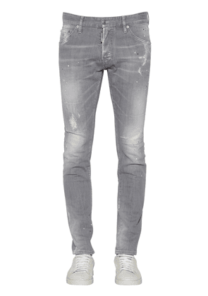16.5cm Slim Fit Cotton Denim Jeans
