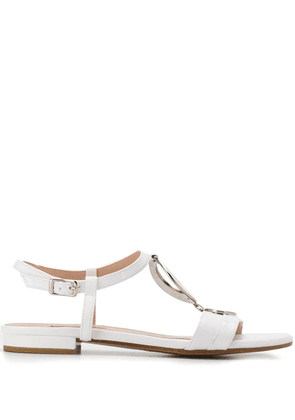 Albano disc ring sandals - White