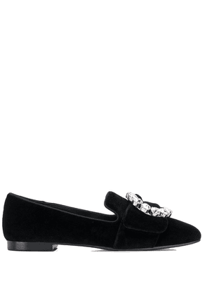 Dolce & Gabbana buckle detail loafers - Black