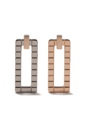 Chopard 18kt rose and 18kt white gold Ice Cube earrings - Fairmined