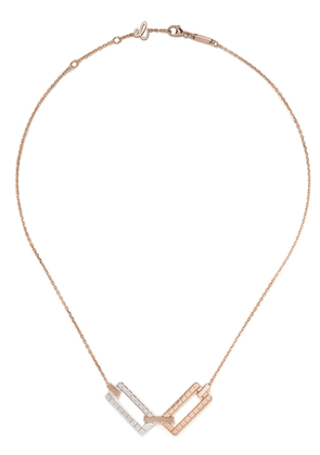 Chopard 18kt rose and 18kt white gold Ice Cube necklace - Fairmined