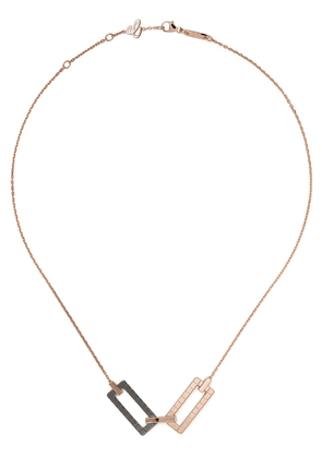 Chopard 18kt rose gold Ice Cube Rock necklace - Fairmined Rose Gold /