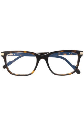 Cartier square frame glasses - 006 Brown