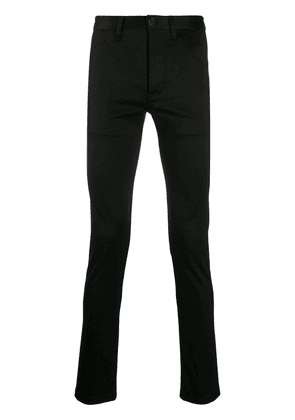 Saint Laurent fitted chino trousers - Black