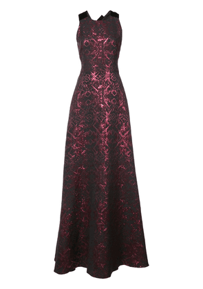 Badgley Mischka embroidered fitted gown