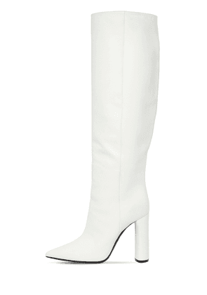 100mm Tall Leather Boots