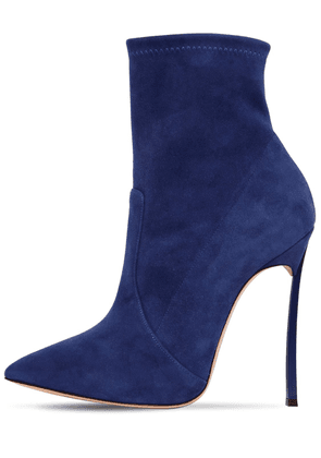 120mm Blade Stretch Suede Ankle Boots