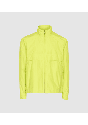 Reiss Lake - Hooded Technical Jacket in Yellow, Mens, Size XS