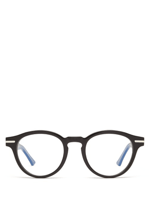 Cutler And Gross - Round Acetate Glasses - Mens - Black