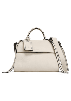 Elena Ghisellini Angel Textured-leather Tote Woman Off-white Size --