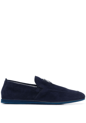 Baldinini crest detail loafers - Blue