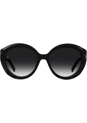 Elie Saab round tinted sunglasses - Black