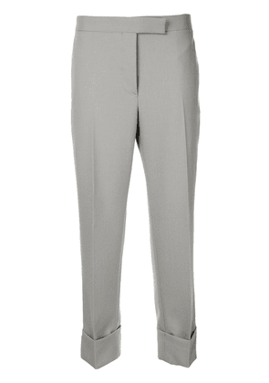 Thom Browne cropped straight leg trousers - Grey