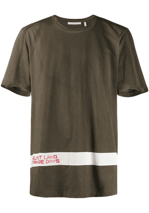 Helmut Lang weathered T-shirt - Green