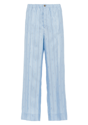 Prada Pongé trousers - Blue