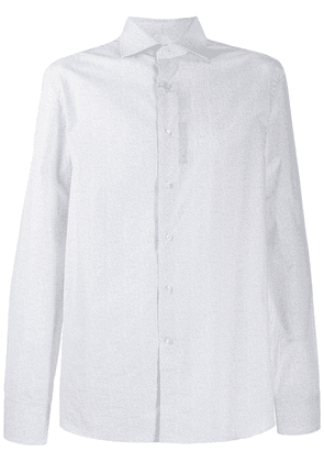Canali formal shirt with geometric print - White