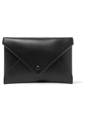 The Row - Envelope Leather Clutch - Black