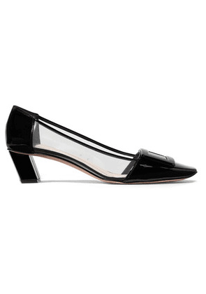 Roger Vivier - Belle Vivier Patent-leather And Pvc Pumps - Black