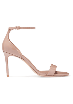 SAINT LAURENT - Amber Patent-leather Sandals - Neutral