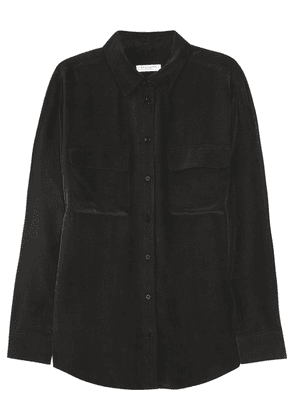 Equipment - Signature Washed-silk Shirt - Black