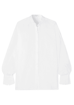 Equipment - Sedaine Oversized Linen Shirt - White