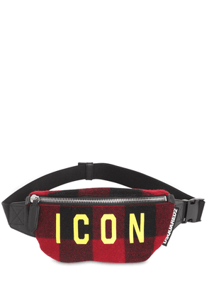 Icon Checked Wool Belt Bag