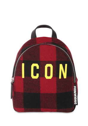 Icon Mini Checked Wool Backpack