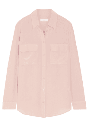 Equipment - Signature Washed-silk Shirt - Blush