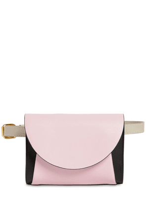 Law Color Block Leather Belt Bag