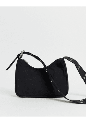 Weekday handbag with extended strap in black
