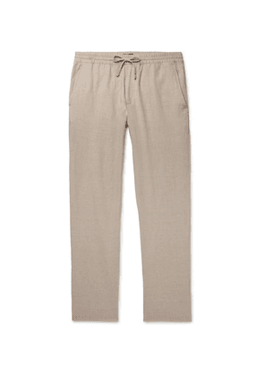 Club Monaco - Slim-fit Stretch Cotton And Linen-blend Drawstring Trousers - Beige