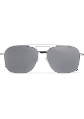 Cutler and Gross - Aviator-style Stainless Steel Sunglasses - Silver