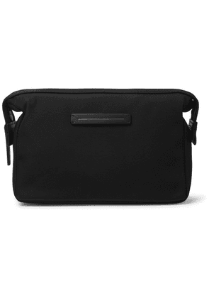 Horizn Studios - Koenji Leather-trimmed Nylon Wash Bag - Black