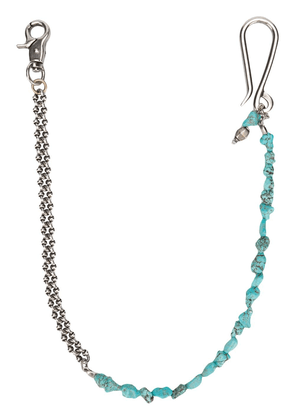 Andrea D'amico stones keyring and chain - Metallic