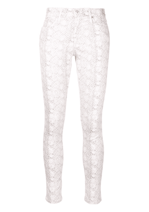 Ag Jeans snake-effect jeans - Neutrals