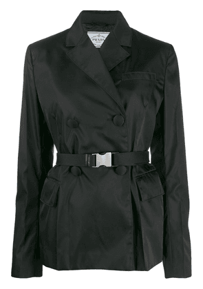 Prada belted technical-fabric blazer - Black
