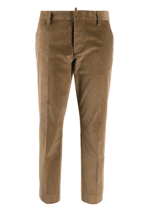 Dsquared2 plain cropped trousers - Brown