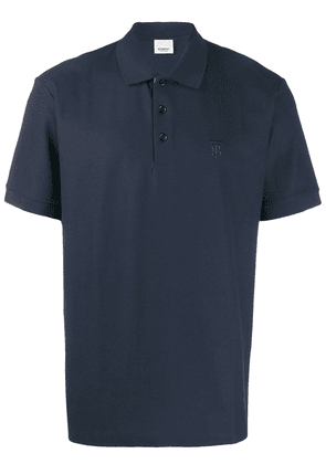 Burberry monogram motif polo shirt - Blue