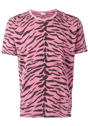 Saint Laurent printed T-shirt - Pink
