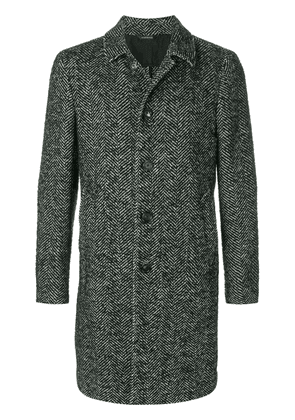 Dell'oglio long sleeved button up coat - Grey