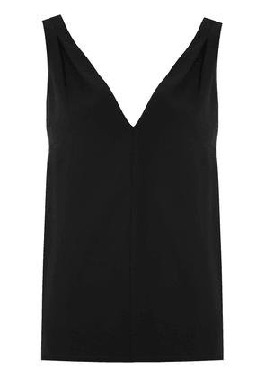 Egrey tank top with pleated detail - Black
