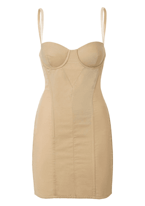 Burberry Cotton Gabardine Corset Dress - Neutrals