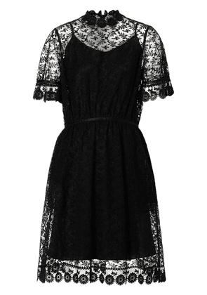 Burberry floral embroidered tulle dress - Black