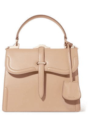 Prada - Sidone Leather Tote - Brown
