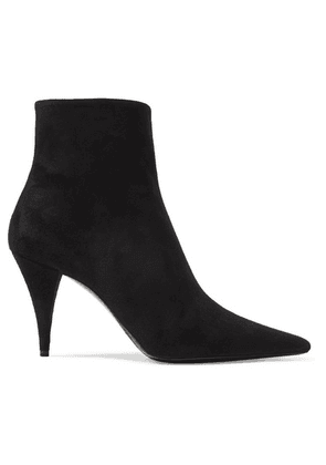 SAINT LAURENT - Kiki Suede Ankle Boots - Black