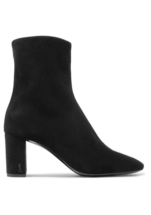 SAINT LAURENT - Lou Suede Ankle Boots - Black