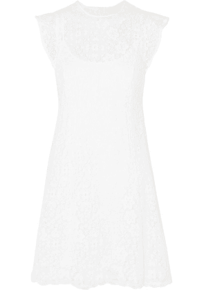 MICHAEL Michael Kors - Crocheted Lace Mini Dress - White