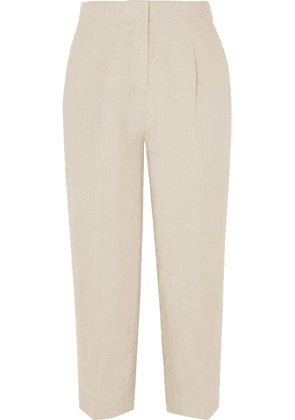 MICHAEL Michael Kors - Cropped Linen Tapered Pants - Neutral